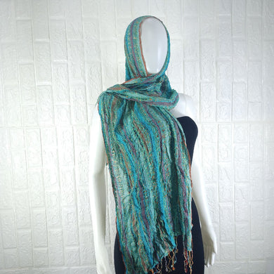 Multicoloured Cotton Neck Scarf - okriks-market
