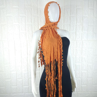 Orange Lycra Neck Scarf - okriks-market