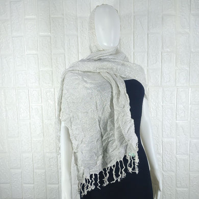 White Cotton Shawl - okriks-market