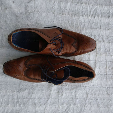 Cow Leather Lace Up Men Shoe - okriks-market