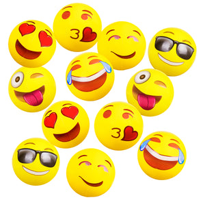 "Emoji 12"" (12 pack) Beach Balls"