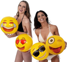 "Load image into Gallery viewer, Emoji Beach Ball 18"" Sunglasses"
