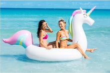 Load image into Gallery viewer, Giant Rainbow Unicorn Pool Float