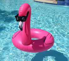 Load image into Gallery viewer, Flamingo with Shades Pool Float