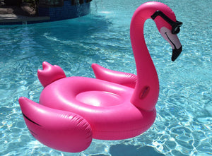 Giant Flamingo with Shades Pool Float