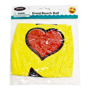 "Emoji Beach Ball 18"" Heart Eyes"