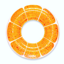 Load image into Gallery viewer, Tangerine Orange Glitter Pool Float
