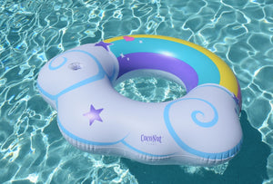 Rainbow Cloud with Cup Holder Pool Float