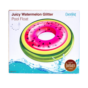 Juicy Watermelon Glitter Pool Float