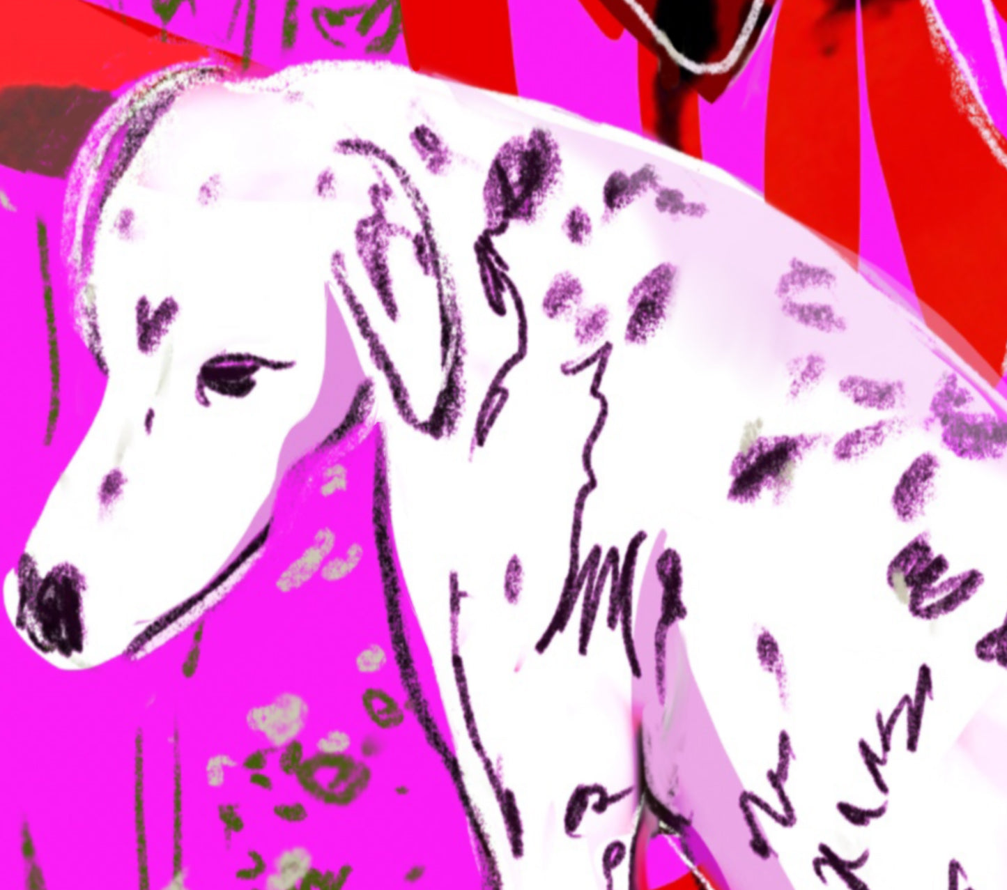 Brighton and Dalmation -  limited edition of 25 print expo Art is Fashion London Fashion