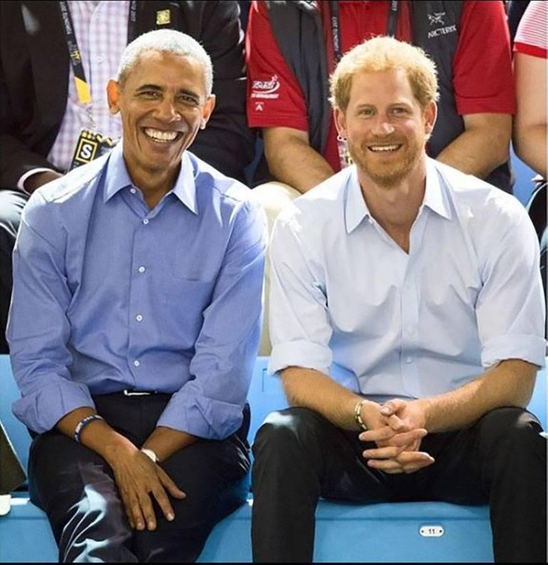 Barack Obama and Prince Harry Invictus Games Original Personally Signed Royal family