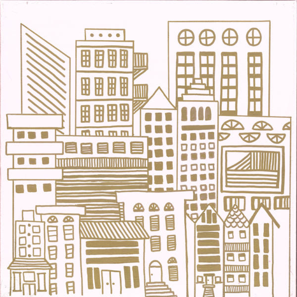 Wallpaper: Doodle City Gold