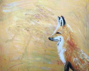 Beautiful Golden Fox limited edition signed by artist