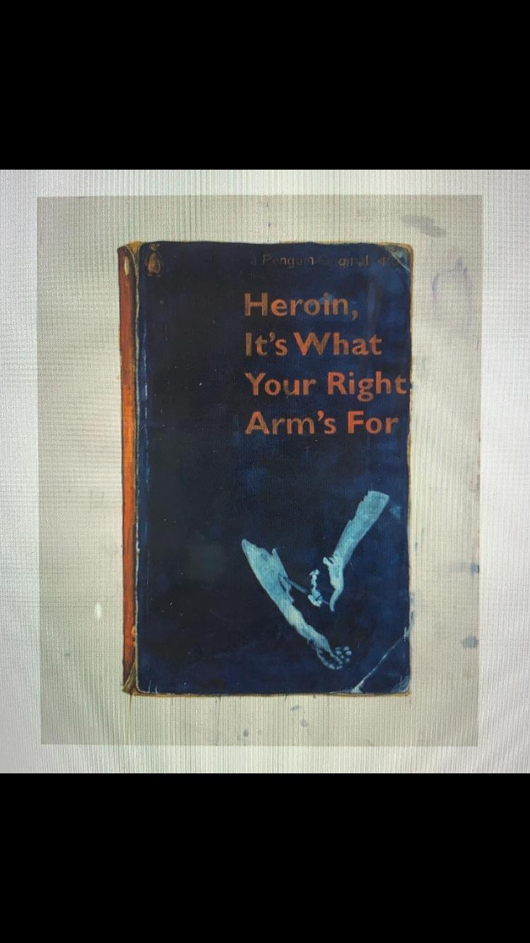 Heroin It's What Your Right Arm's For 2012 screen print in colours edition of 50