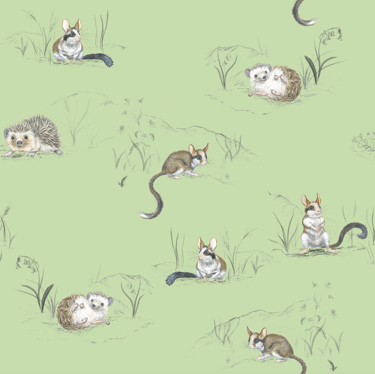 Wallpaper: Hedgehog and Dormouse