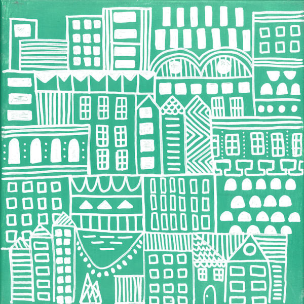 Wallpaper: Doodle City Green