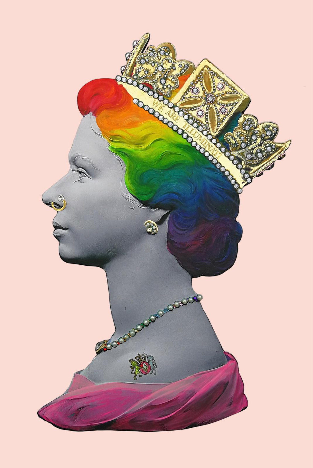 Gay Queen with crown - signed by artist