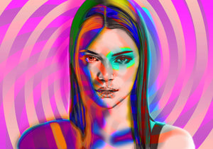 Kendall Jenner limited edition print of 10 art high profile personally signed  2019