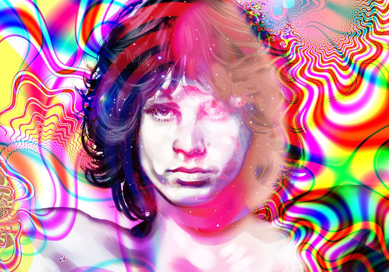Jim Morrison limited edition print of 10 art high profile personally signed 2019