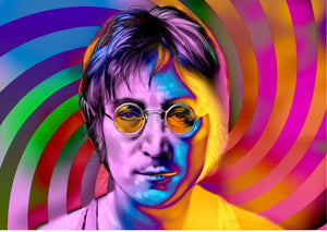 John Lennon 3d moving image art work pexi glass art unique signed stormzy 2019