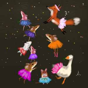 Animals at Christmas, christmas limited edition print 100, magical, John Lewis and  Childrens' illustrator