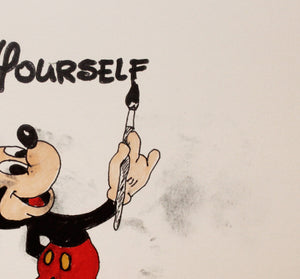 Go Fuck Yourself Original Signed featuring Mickey Mouse signed