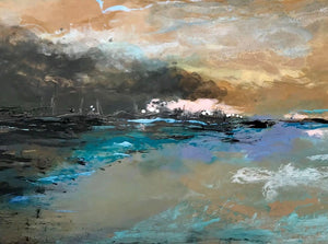 At The Mouth of the Bay - Original, mixed media, personally signed acrylic paint Signed Excellent Art reviews