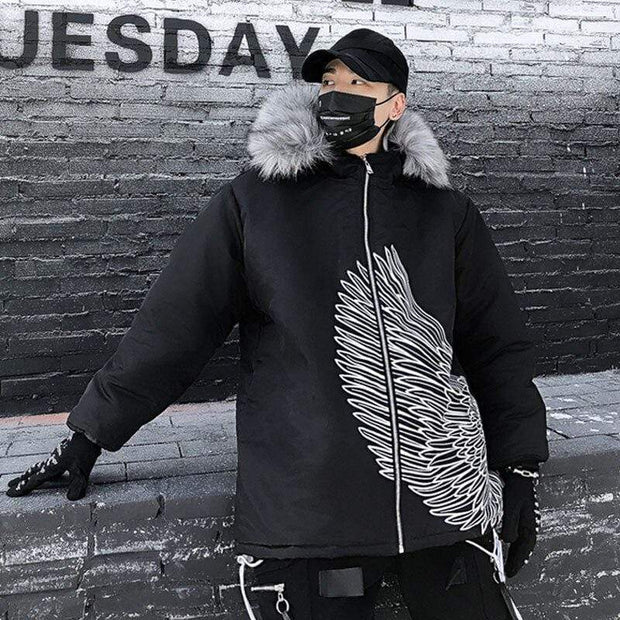 Angel Winter Parka MugenSoul Streetwear Brands Streetwear Clothing  Techwear