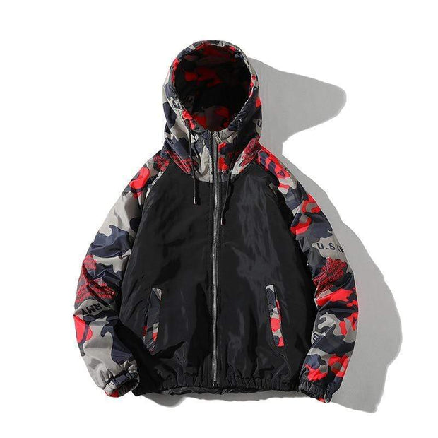 Camo Padded Coat - Mugen Soul Urban Streetwear Hip Hop Clothing Brand