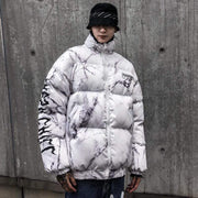 Confused Winter Puffer Jacket MugenSoul Streetwear Brands Streetwear Clothing  Techwear