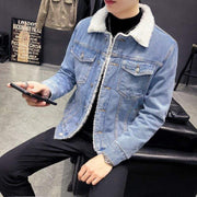 Denim Sherpa Jacket MugenSoul Streetwear Brands Streetwear Clothing  Techwear