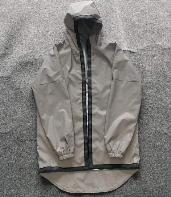 Reflective Striped Trench Coat MugenSoul Streetwear Brands Streetwear Clothing  Techwear