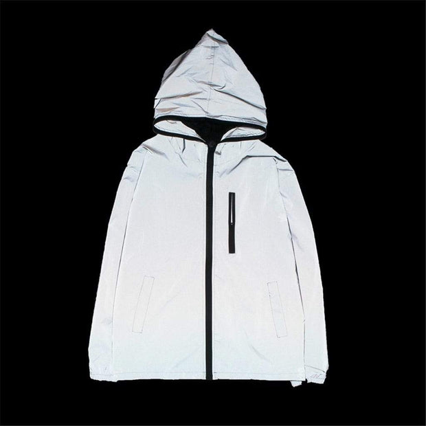 Reflective Tech Windbreaker MugenSoul Streetwear Brands Streetwear Clothing  Techwear