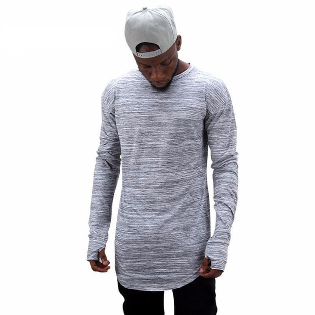 Scoop Bottom Patterned Shirt MugenSoul Streetwear Brands Streetwear Clothing  Techwear