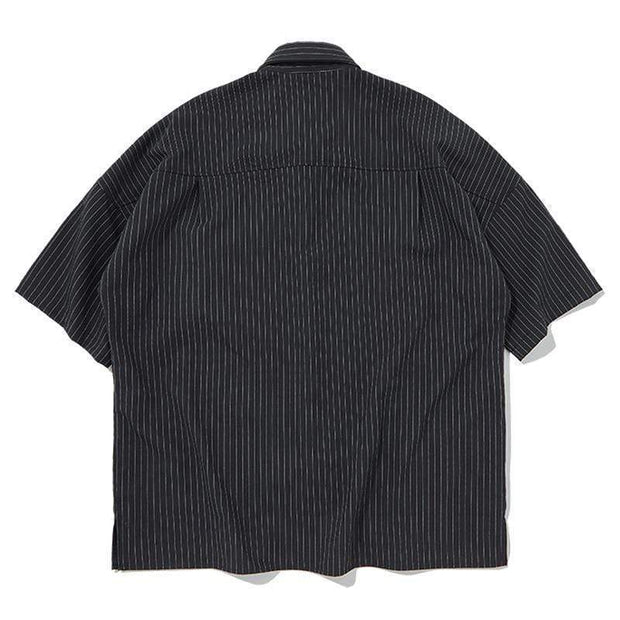 Strap Button Up Shirt MugenSoul Streetwear Brands Streetwear Clothing  Techwear