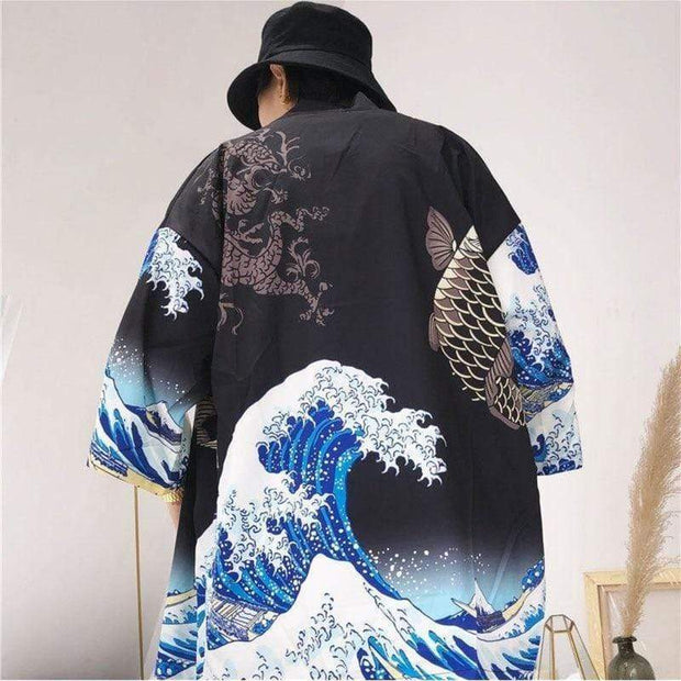 Waves Kimono MugenSoul Streetwear Brands Streetwear Clothing  Techwear