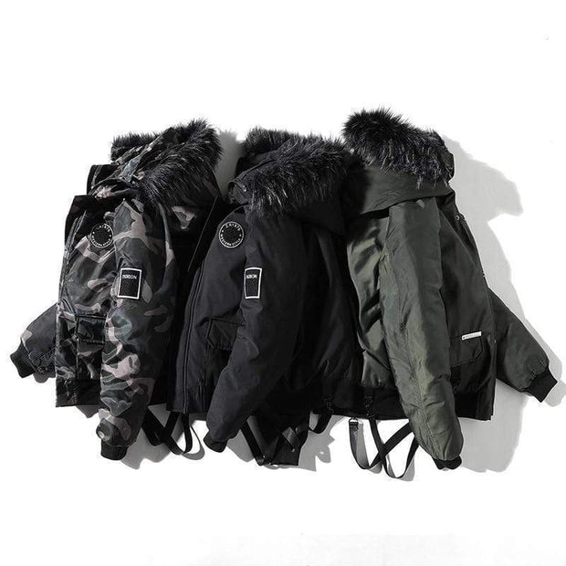 Western Winter Urban Parka Jacket MugenSoul Streetwear Brands Streetwear Clothing  Techwear