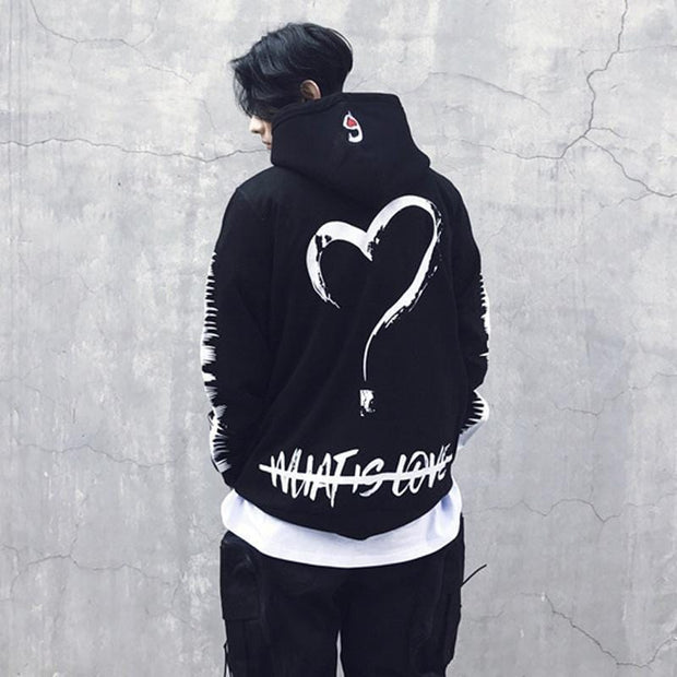 What Is Love Hoodie MugenSoul Streetwear Brands Streetwear Clothing  Techwear