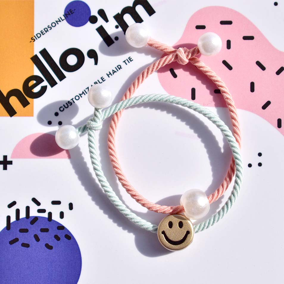 Smiley Hair Tie Pack - Nordic Colours
