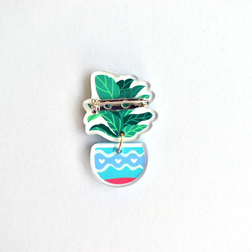 Say Hello To Plant Lady Brooch