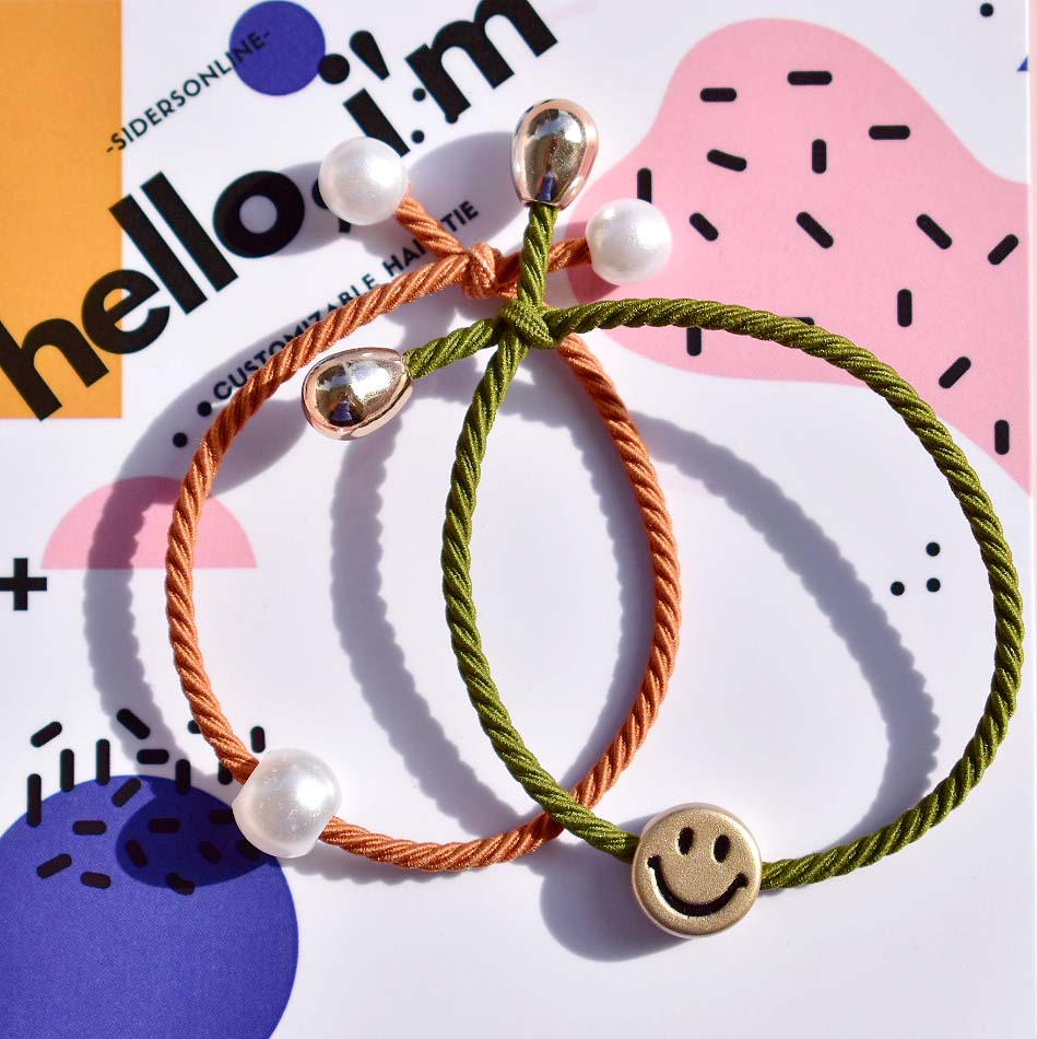 [Ready Stock] Smiley Hair Tie Pack - Dark Colours