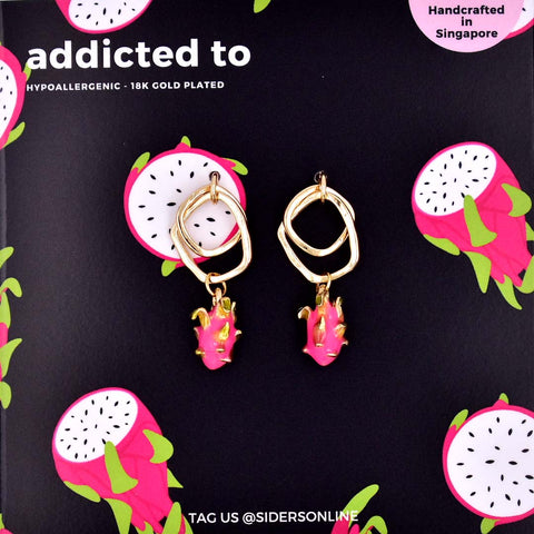 Addicted To Dragon Fruit Earrings