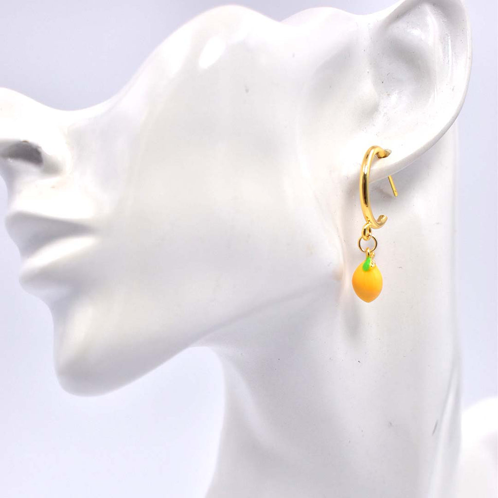 Be Zesty Lemon Hoop Earrings