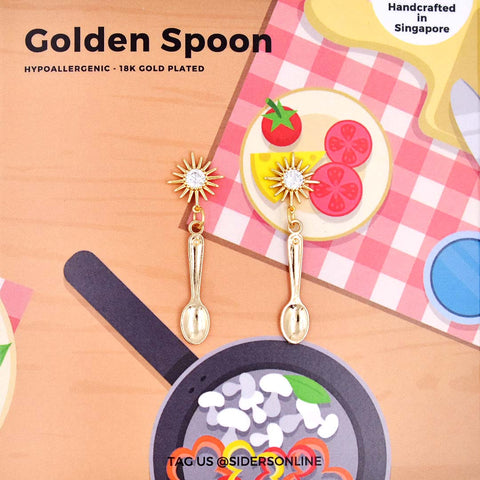 Golden Spoon Earrings