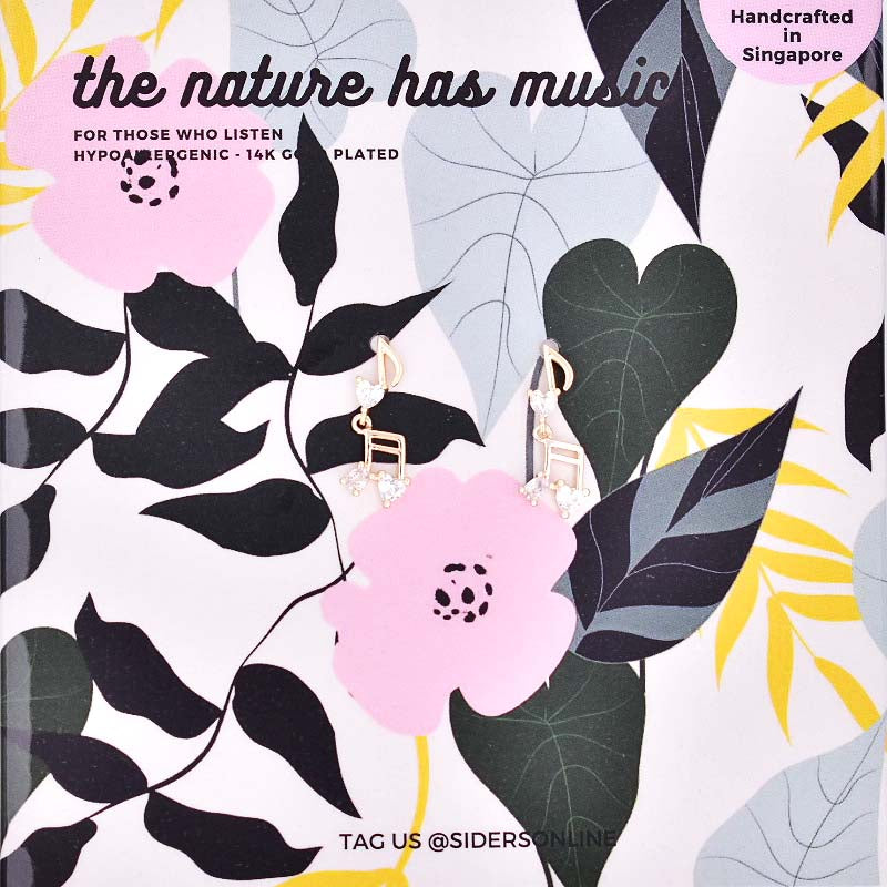 The Nature Has Music Earrings