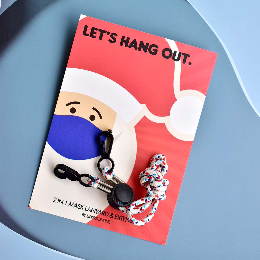 Let's Hangout 2-in-1 Lanyard in Fun Beige