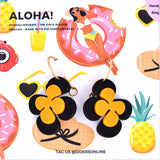 Aloha! Hoop Earrings