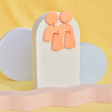 Abstract Pastel Orange Earrings