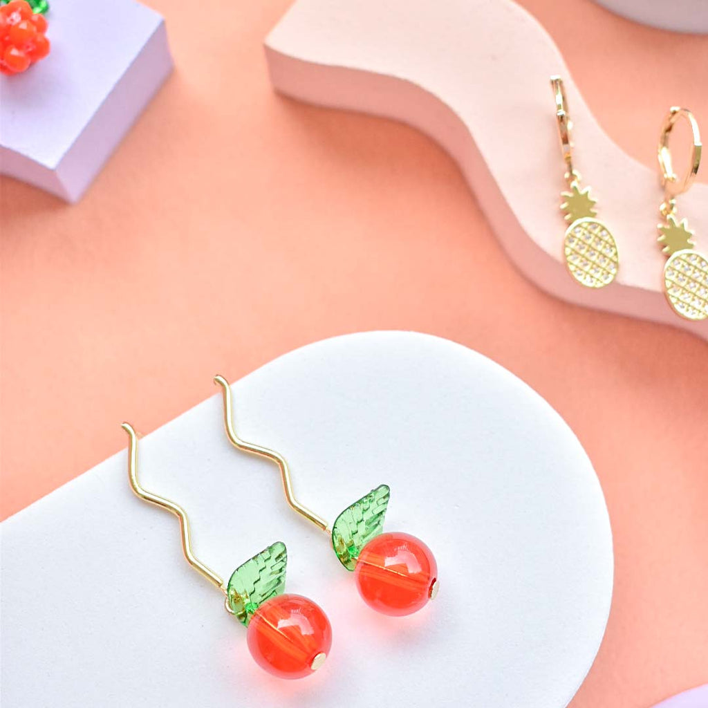 Orangely Fresh Earrings