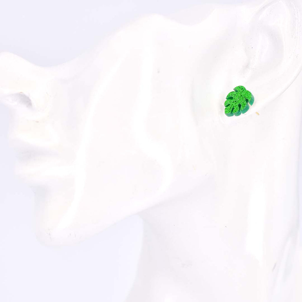 Smiles of Nature Monstera Cactus Stud Earrings